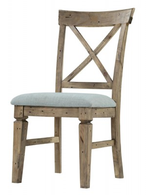 SIDE CHAIR CROSS BACK WITH UPH SEAT