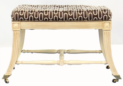 Wood Frame Ottoman On Casters