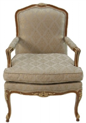Tan Upholstered Arm Chair