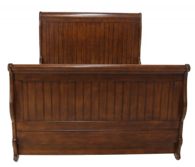 Wooden Frame Full Size Sleigh Bed