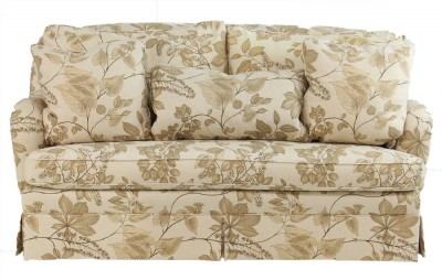 Curved Back Rolled Arm Loveseat
