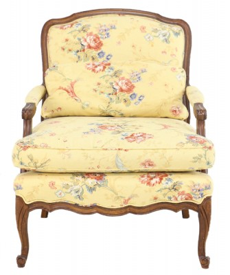 French Provencal Wooden Framed Armchair