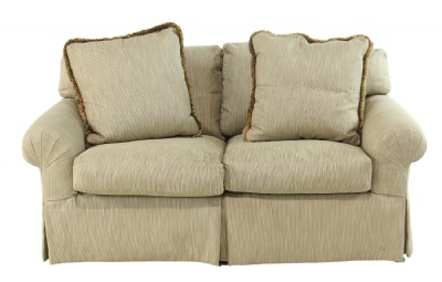 Ribbed Fabric Love Seat