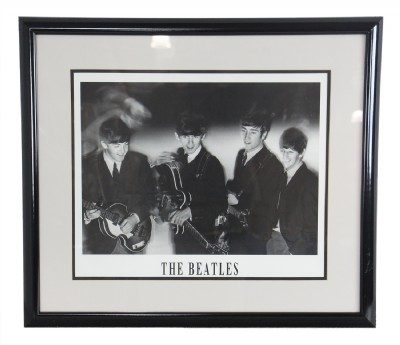 black & white Beatles print