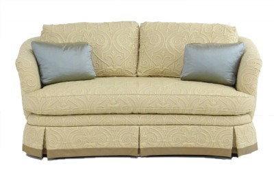 Curved Upholstered Sofa
