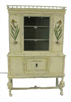 Antique Distressed Painted Hutch