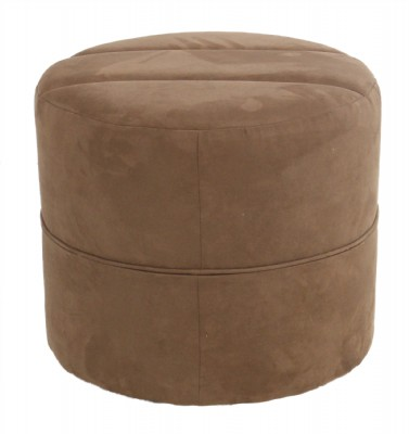 Ultrasuede Ottoman on Casters