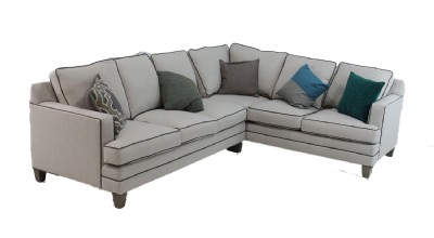 Two Piece Track Arm Sectional Sofa