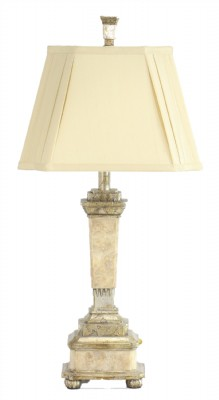 Silver Torchiere Table Lamp