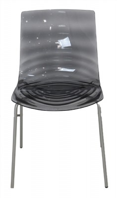 Grey Lucite Chair