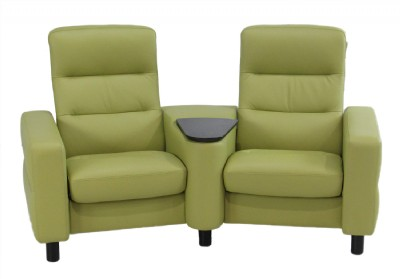 Stressless Wave Paloma Amber Green Reclining Lea
