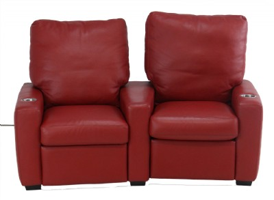 Holden Reclining Red Leather Sectional