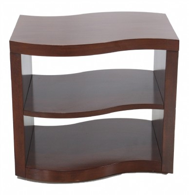 Mahogany Finished Curvilinear End Table
