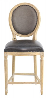 Wooden Frame Leather Seat Barstool