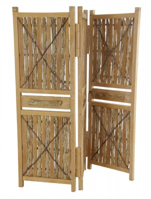 Bark and Twig Wooden Room Divider