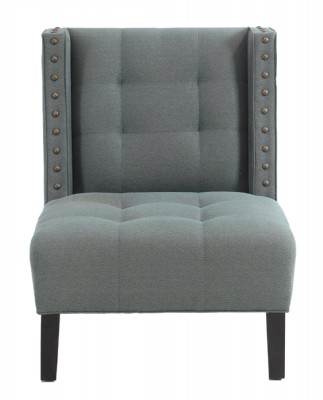 Teal Leopard Fabric Upholstered Chair