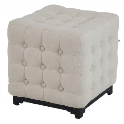 Tufted Sqaure Foot Ottoman