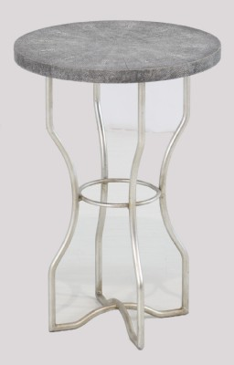 Shagreen Cool Grey Top Occassional Table