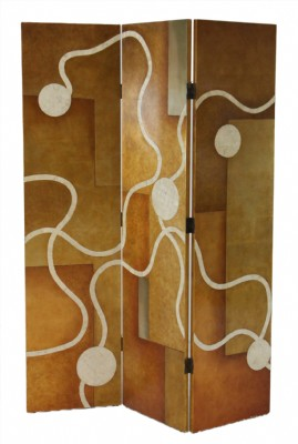 Inlaid Shell Wooden Room Divider