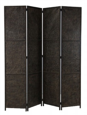 Embossed Rust Colored Metal Room Divider