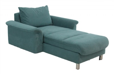 U.S. Real Teal Stressless Suede Chaise