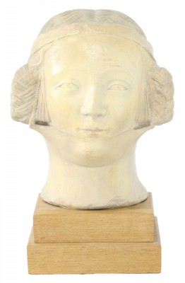 Abstract Sculpted Grecian Female Head on Stand