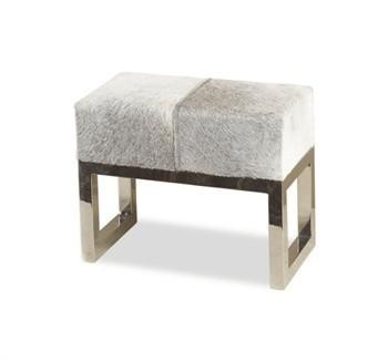 Moro Hide Stool WIth Stainless Frame