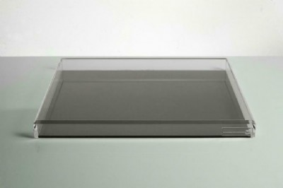 Voltage Large Soiree Tray- Black & Clear