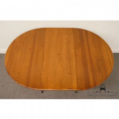Round Cherry Top & Wrought Iron Base DIning Table