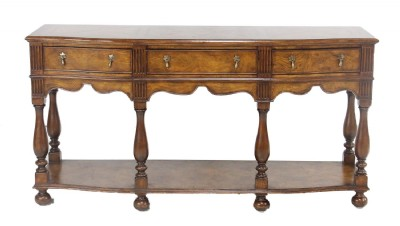Inlaid Wooden Console Table